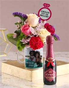 flowers: Personalised Dreams Come True Floral Mug!