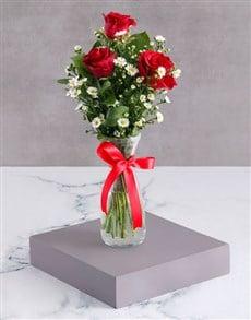 flowers: Satin Red Rose Arrangement!