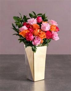 flowers: Radiant Rose Arrangement !
