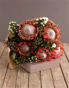 gifts: Red King  Protea Bouquet!