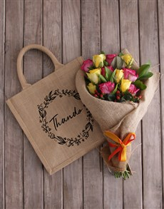 gifts: Personalised Wreath Tote With Roses!