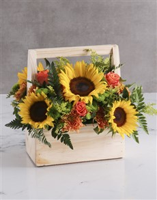 flowers: Bloom Sunflower Crate!