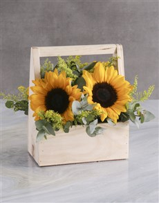 flowers: She Believed Sunflower Crate!