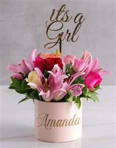 flowers: Personalised Mixed Floral Beauty In Hat Box!