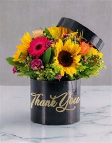 gifts: Gratitude Mixed Flowers Hat Box!