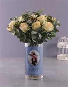 flowers: Divine Roses in Photo Vase!