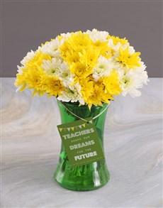 flowers: Teachers Day Sprays Surprise In Vase Gift!