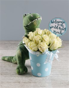 flowers: Lovely White Roses And Teddy Gift!
