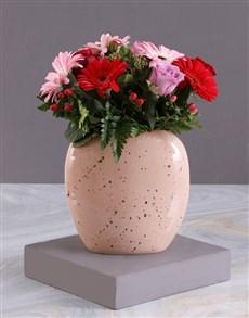 flowers: Red Carnations Topiary Tree In Black Ceramic!