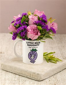 flowers: Little Miss Naughty Flowers In Mug!