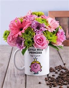flowers: Little Miss Princess Flowers In Mug!