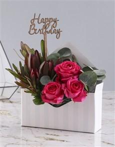 flowers: Happy Birthday Cerise Rose Blossoms!
