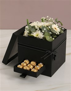 flowers: Thank You Mixed Flower Box With Secret Drawer!