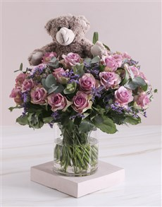 gifts: Lilac Rose Combo In Clear Vase!