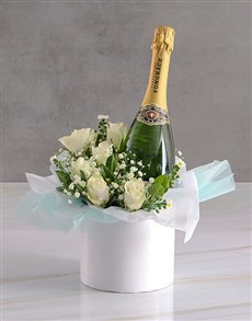 gifts: White Roses With Pongracz Classique!