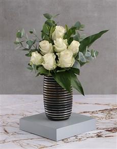flowers: White Rose Blossoms!