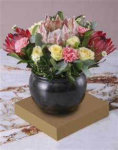 gifts: Graceful Rose and Protea Arrangement!