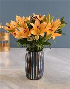 flowers: Elegant Orange Lilies!