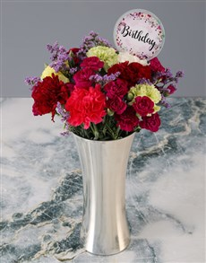 flowers: Mixed Carnations Birthday Bouquet!