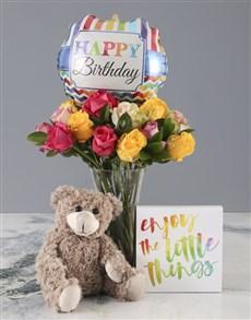 flowers: Mixed Roses Happy Birthday Combo!