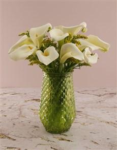 flowers: White Arums In Vase!
