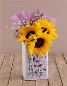 flowers: Sunflower Smiles Arrangement!