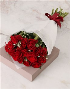flowers: Radiant Red Rose and Million Star Bouquet!