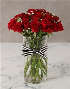 flowers: Royal Red Rose Bouquet in a Vase!