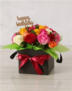 flowers: Bright Birthday Mixed Rose Box!