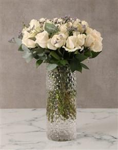 gifts: Cream Roses in Decorative Vase!