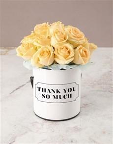 flowers: Peach Roses Thank You  Arrangement!