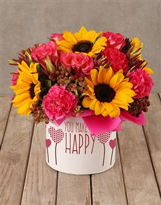 flowers: Happiness In A Sunflower Box!