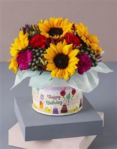 flowers: Happy Birthday Sunflower Arrangement!