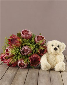 flowers: Mixed Protea Present!