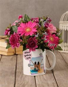 flowers: Personalised Birthday Flowers in a Mug!