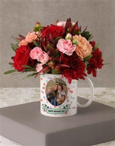 flowers: Personalised Birthday Flowers in Polka Dot Mug!