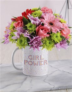 flowers: Girl Power Floral Mug!