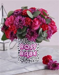 flowers: Boss Babe Floral Mug!