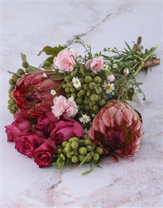 flowers: Wash Of Pink Protea Bouquet!