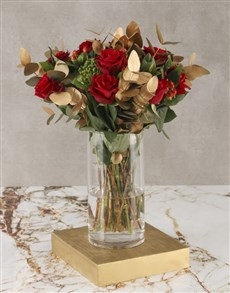 flowers: Red Roses Golden Gift!