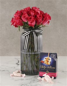 flowers: Cerise Rose Surprise And Sally Williams!