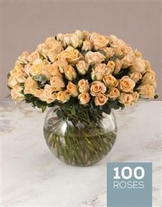 flowers: Lavish Peach Rose Arrangement!