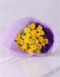 flowers: Elegant Yellow Rose Bouquet!