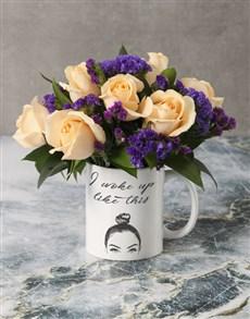 flowers: Woke Up Like This Roses in a Mug!