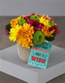 flowers: Mixed Sprays Birthday Bouquet!