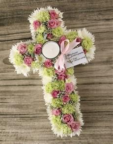 flowers: Vintage Sympathy Cross!
