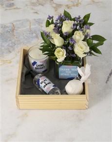 flowers: White Rose Bath and Body Hamper!