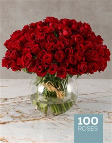 flowers: Forest of Red Roses in Bowl!