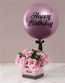 gifts: Personalised Pink Rose Birthday Combo!