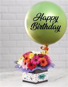 flowers: Personalised Green Birthday Balloon Combo!